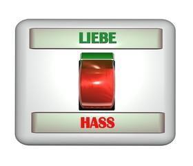 3D Schalter II - Liebe - Hass