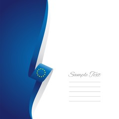 EU left side brochure cover vector