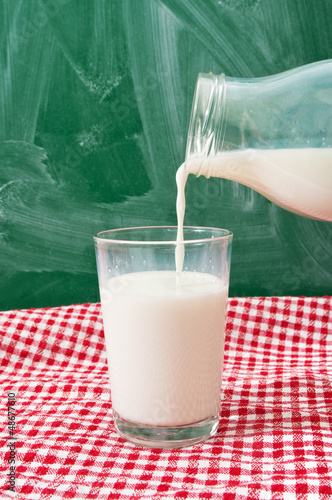 Pouring milk in glass