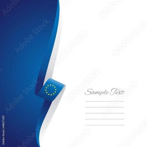 EU left side brochure cover vector