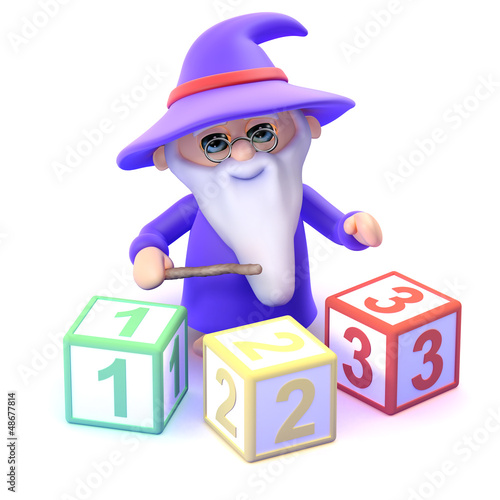 Wizard learns to count with magic