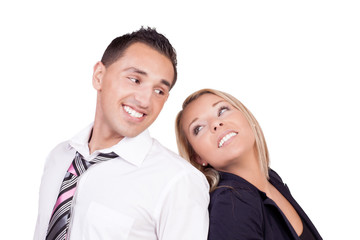 Romantic professional couple