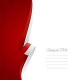 Polish left side brochure cover vector