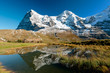 Eiger an Monch mountain panorama