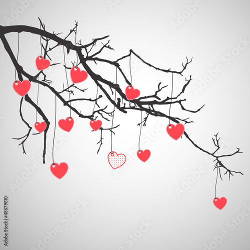 Vector Illustration of an Abstract Valentines Background