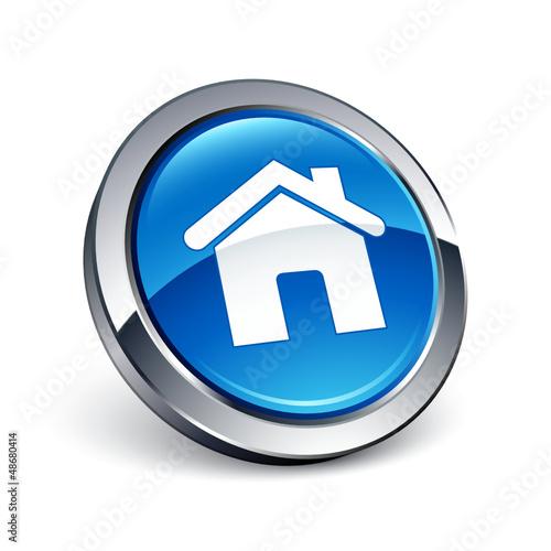 icône bouton internet maison