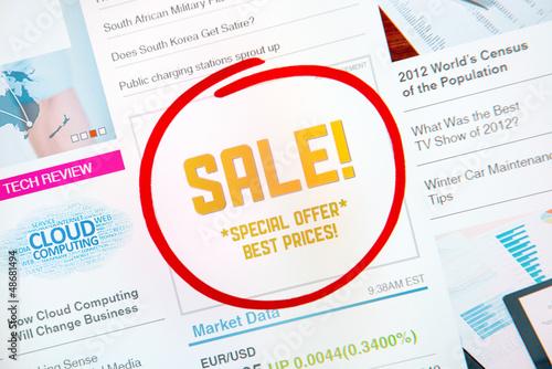 Sale advertisement concept