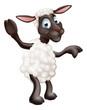 Sheep waving and pointing