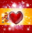 Love Spain flag heart background
