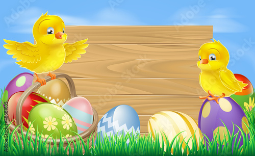 Easter eggs sign