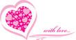 Invitation pink heart