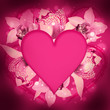 St. Valentine's Day, heart from orchids and butterflies