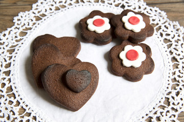 Biscuits with chocolate