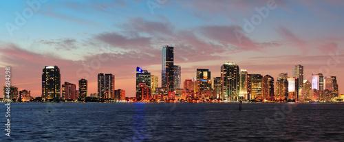 Staande foto Stockholm Miami night scene