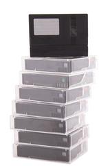 cassette minidv on a white background