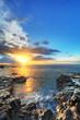 Coucher de soleil à St-Paul, La Réunion.
