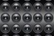 loud Speakers on black