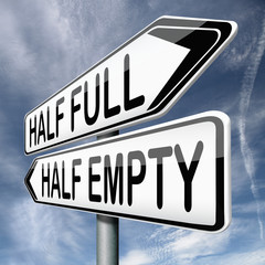 half empty or full