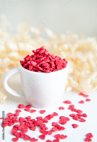 sweet hearts in a cup