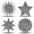 4 boutons étoiles- texture peau de crocodile