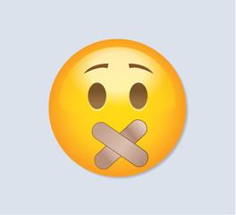 Emoticon - Shut Up