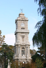 Clock Tower of Dolmabahce Palace in Istanbul