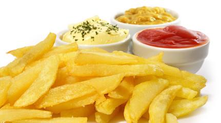 Patatas fritas en aperitivo.