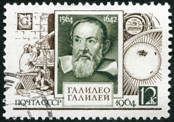 USSR - 1964: shows Galileo Galilei (1564-1642)