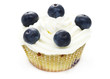 muffin with blueberries and white cream