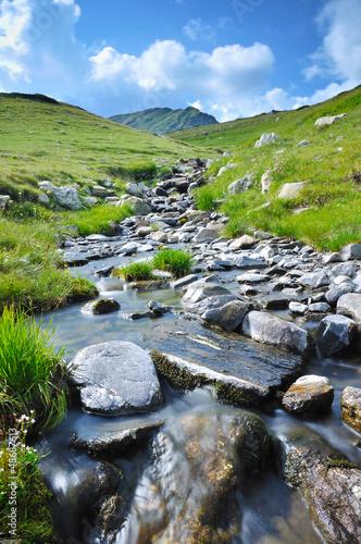 Fototapeten,fluß,fels,hügel,landschaft