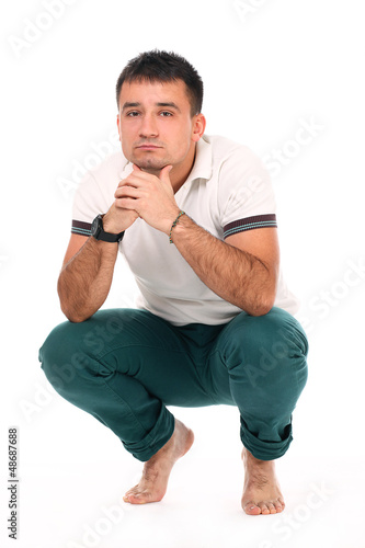 Young handsome man isolated