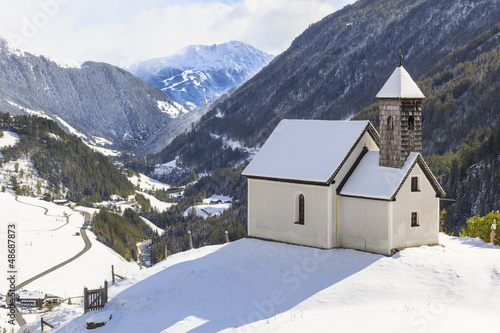 Leinwandbilder,kapelle,hügel,kirche,schnee