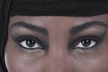 Augen einer Muslimin