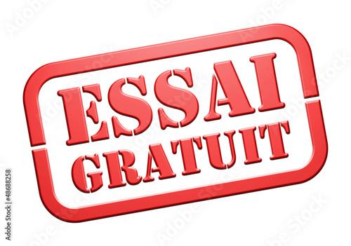 """Cachet """"Essai Gratuit"""""""