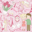 Love seamless pattern, happy valentine`s day