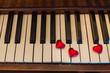 Piano Key Hearts