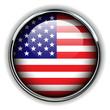 USA, american flag button