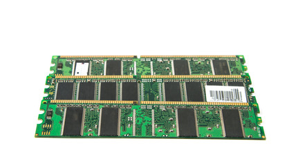 DDR RAM stick isolated