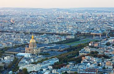 top view for historical quarter of Paris