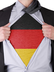 Business man with German flag t-shirt