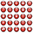 25 Basic Vektor Icons // Homepage Buttons - Red (03)