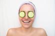Young woman enjoying in spa