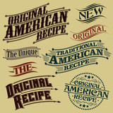 Retro Original Recipe Calligraphic Designs