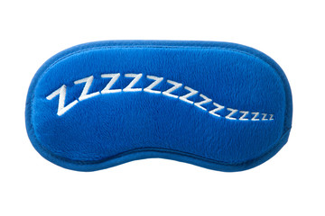 blue sleep mask with sign zzzzz