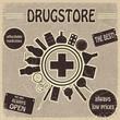 Vintage sign for the drugstores