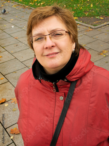 Portrait of a middle aged woman