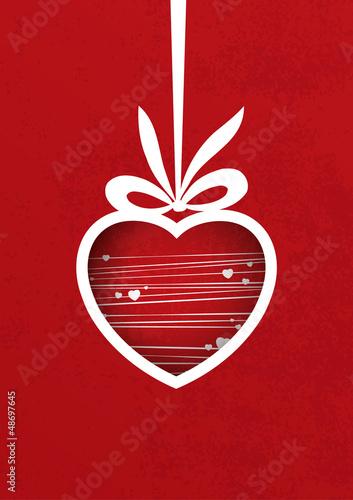 Vector Valentine's poster. Modern valentines motive.