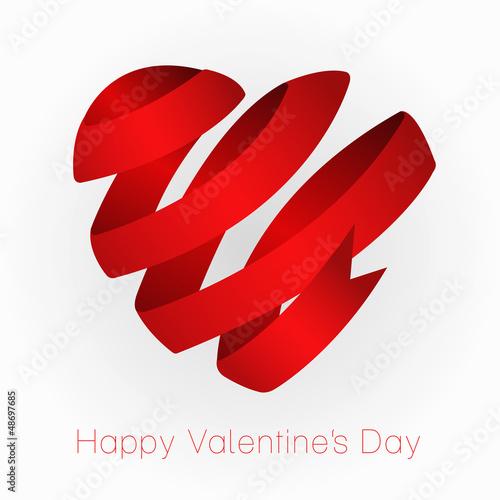Ribbon Valentin's heart. Freash motive.