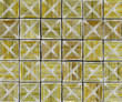 3d cross abstract striped tile backdrop in yellow green