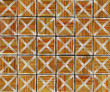 3d cross abstract striped tile backdrop in orange brown